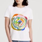 rainbow rose by Yaling Hou Suzuki