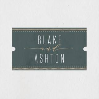 boho glam Wedding Favor Stickers