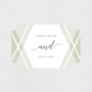 Hexagon Wedding Favor Stickers