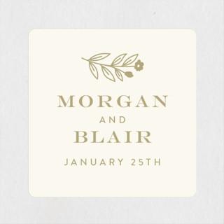 Engraved Garden Wedding Favor Stickers