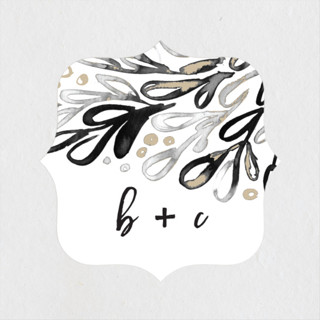 Chic Glow Wedding Favor Stickers