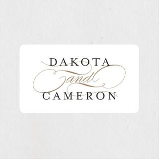 Classic Union Wedding Favor Stickers
