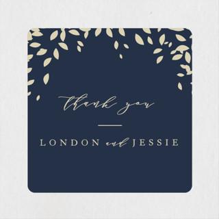 Cascading Corners Wedding Favor Stickers