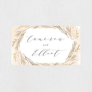 Wheat Field Wedding Favor Stickers
