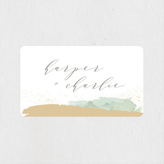 Tide Wedding Favor Stickers