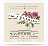 Wildflower Label Print-It-Yourself Wedding Invitations