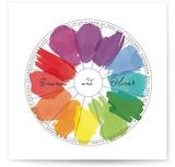 Watercolor Wheel Print-It-Yourself Wedding Invitations