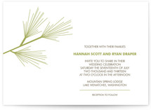 Pine Branch Print-It-Yourself Wedding Invitations