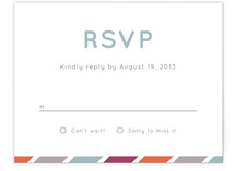 Fruit Stripes Print-It-Yourself RSVP Cards