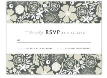 Simple Floral Print-It-Yourself RSVP Cards