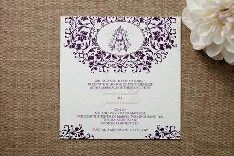 Old World Opulence Wedding Invitations