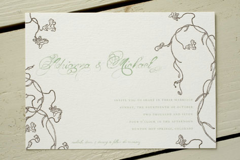 Adrianna Wedding Invitations by Wiley Valentine