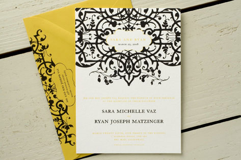 Matzinger Wedding Invitations by Wiley Valentine