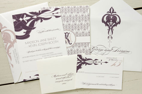 Metropolitan Muse Wedding Invitations by Wiley Valentine