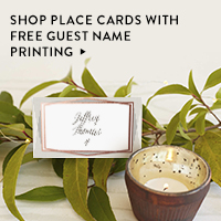 Nav Ad: Shop Place Cards with Free Guest Name Printing