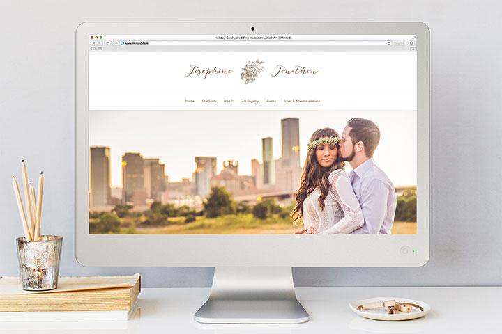 Minted Wedding Websites