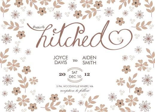 Hitched Wedding Invitations: Getting Hitched At Minted.com