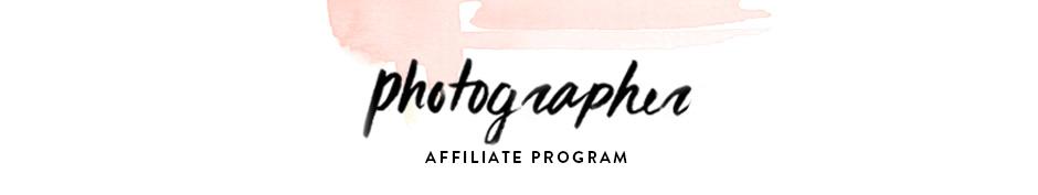 Photographer Affiliate Program