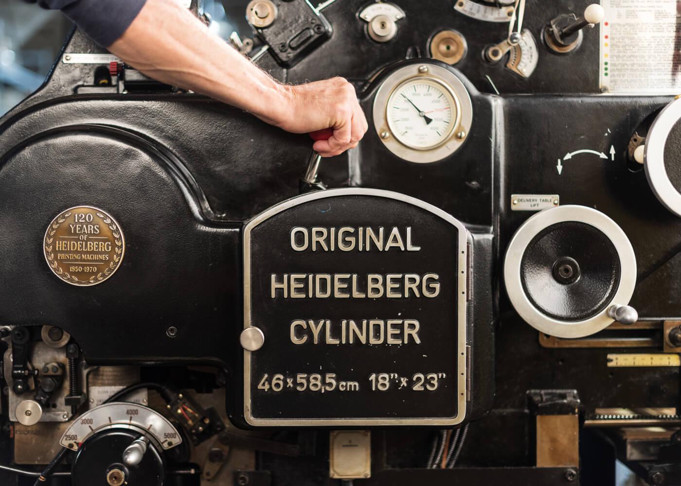 Photo of Antique Heidelberg Machine