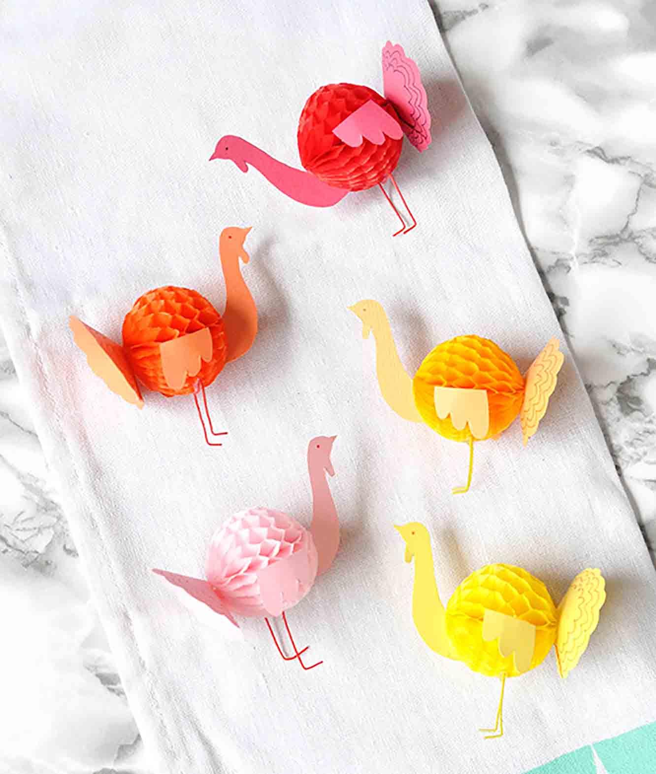 Mini Honeycomb Paper Turkey Craft