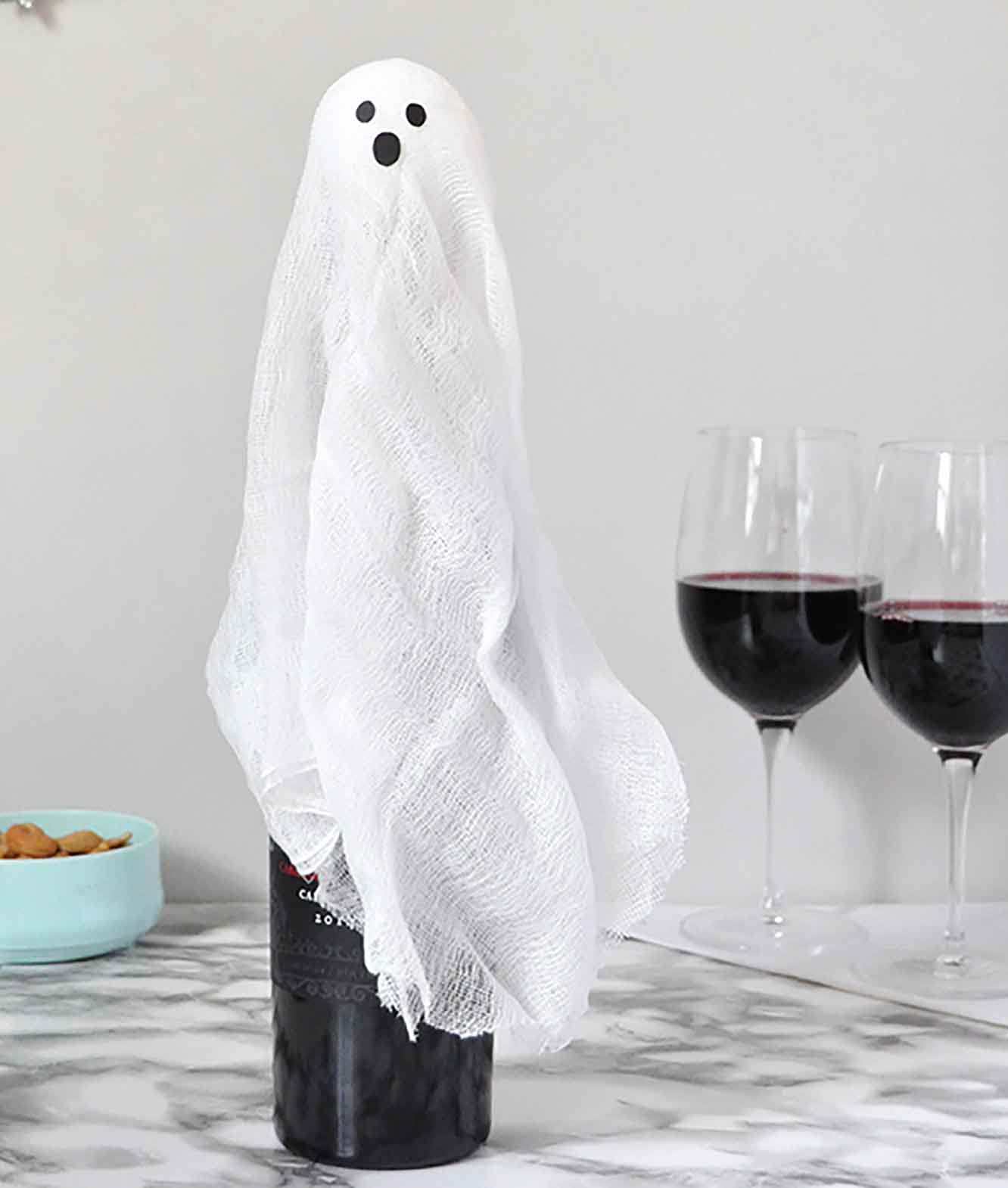 Ghost Wine Bottle Wraps