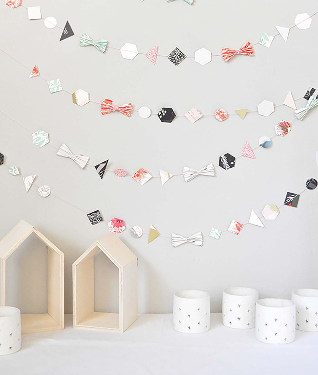 Recycled Holiday-Card Garland