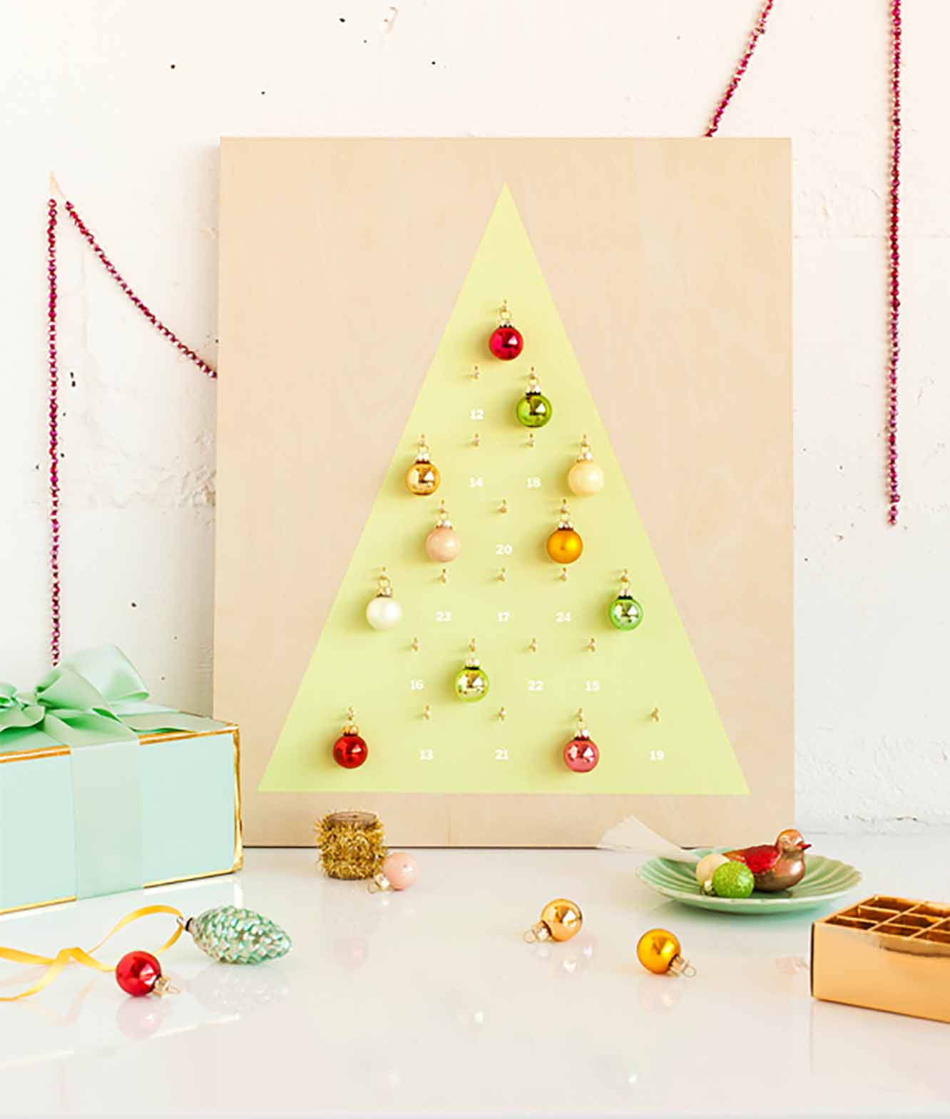 Modern Christmas Ornament Advent Calendar