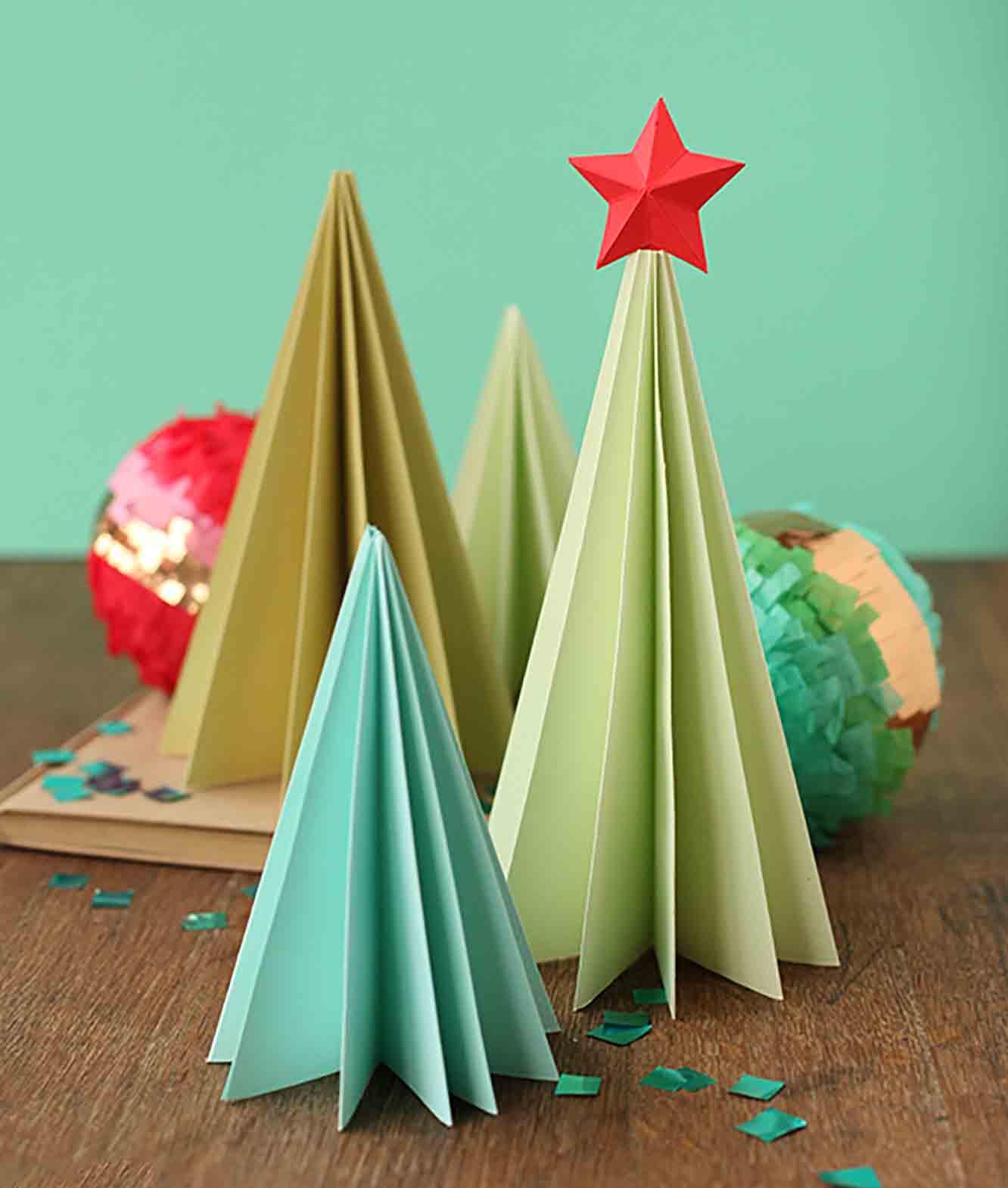 DIY Accordion Paper Trees