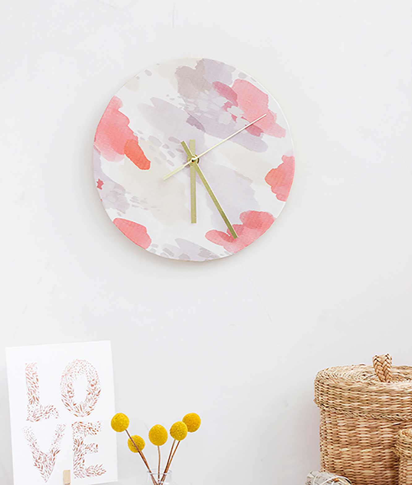 Fabric Covered Clock