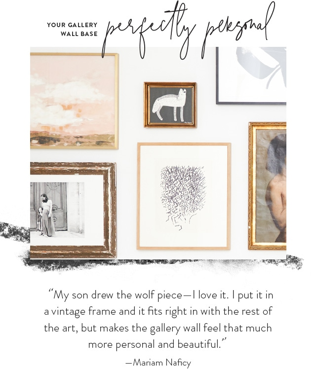 Your Gallery Wall Base: Perfectly Personal