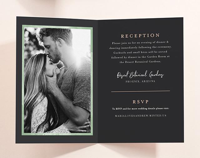 Image of Four-Panel Wedding Invitations