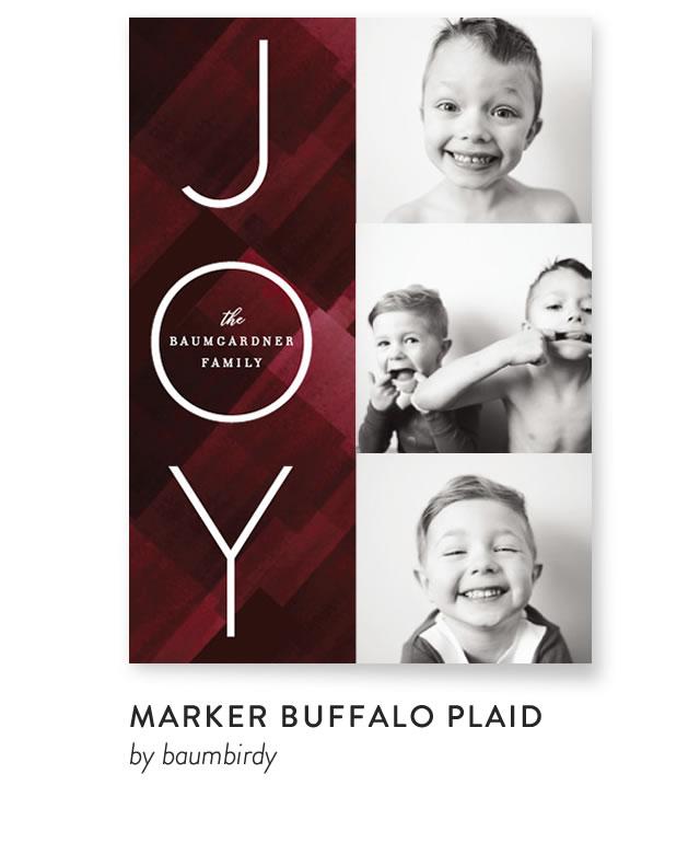 Marker Buffalo Plaid by Baumbirdy