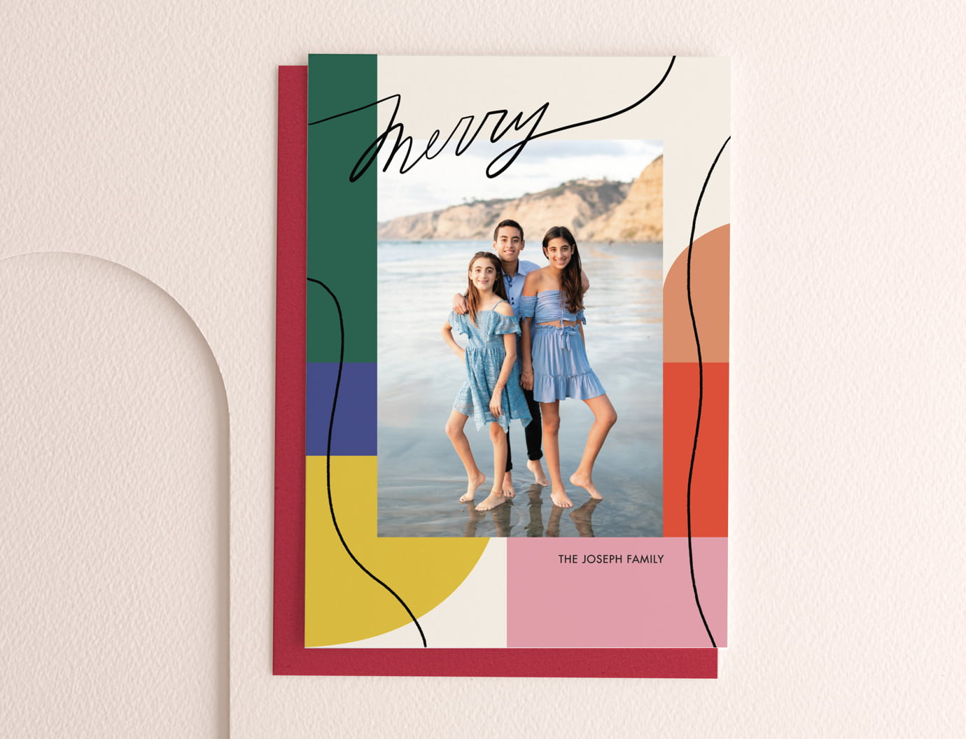 Exuberant brights holiday card trend
