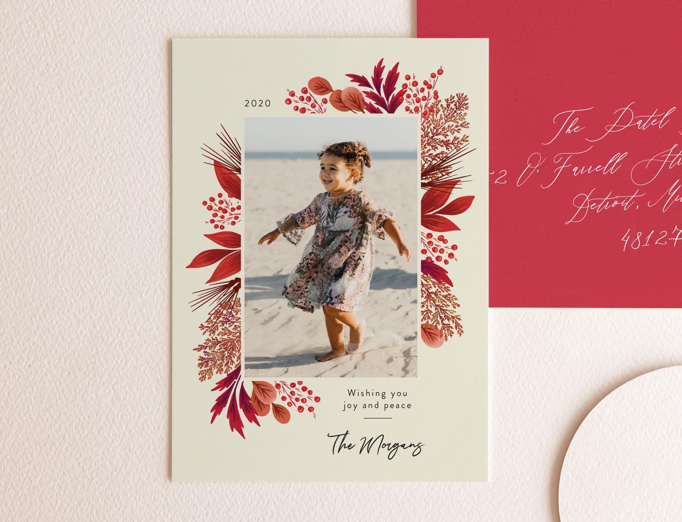Ecru holiday card trend
