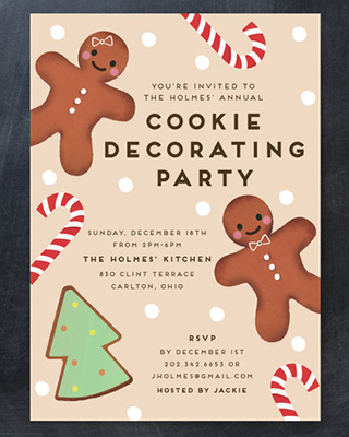 Gingerbread Holiday Party Invitation by Jennifer Lew