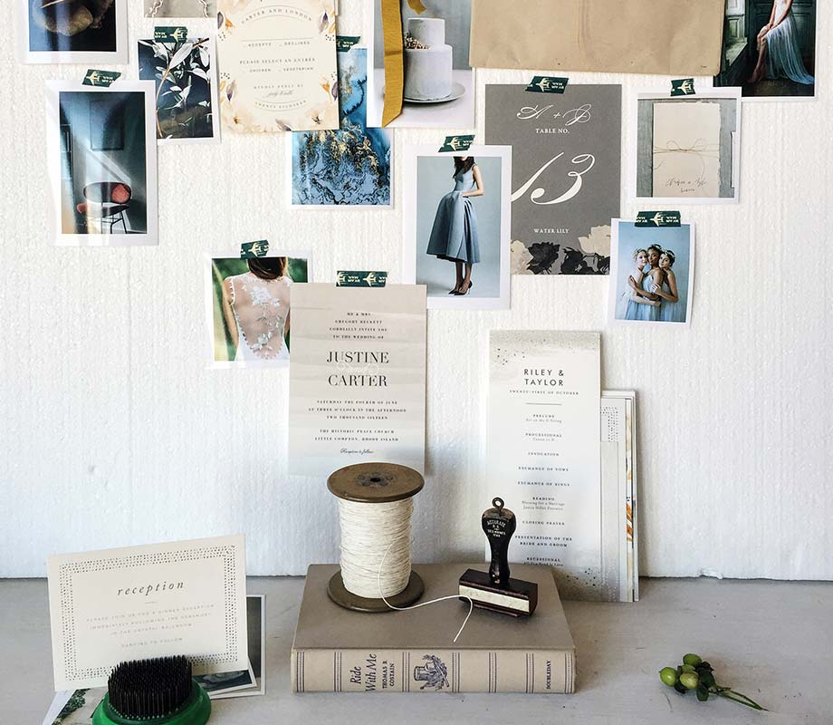 wedding inspiration wall