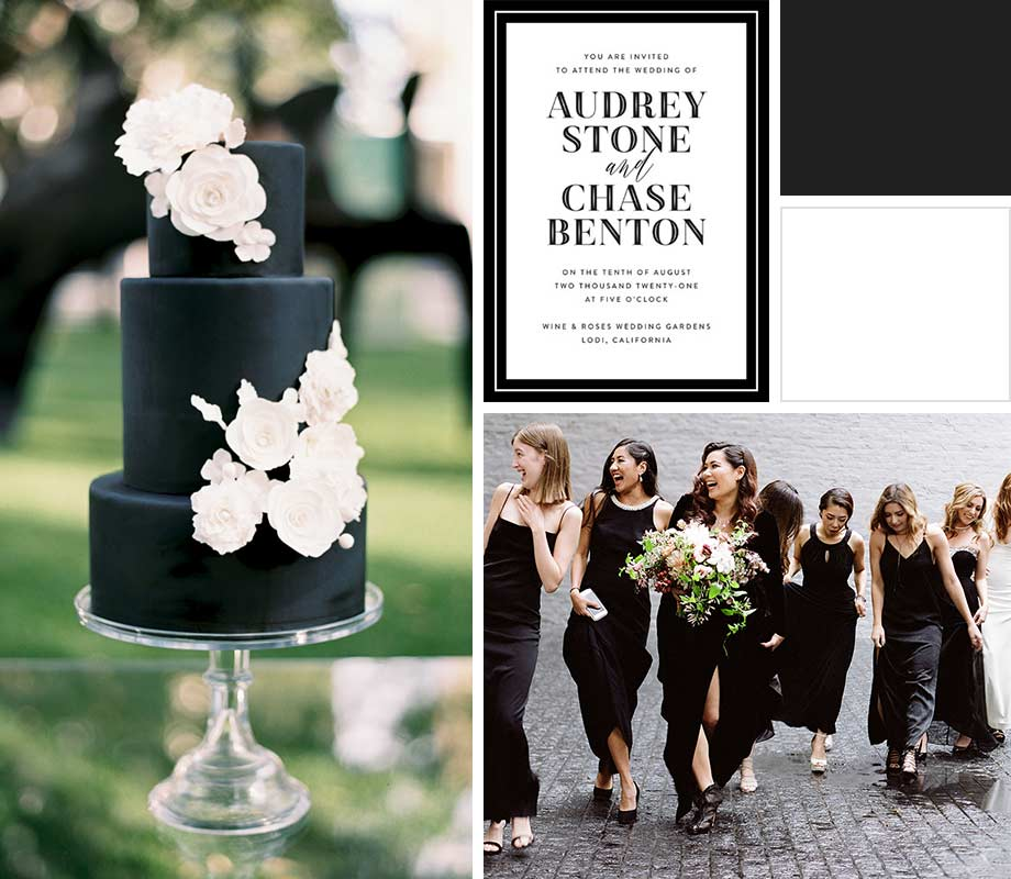 Black + White wedding palette inspiration