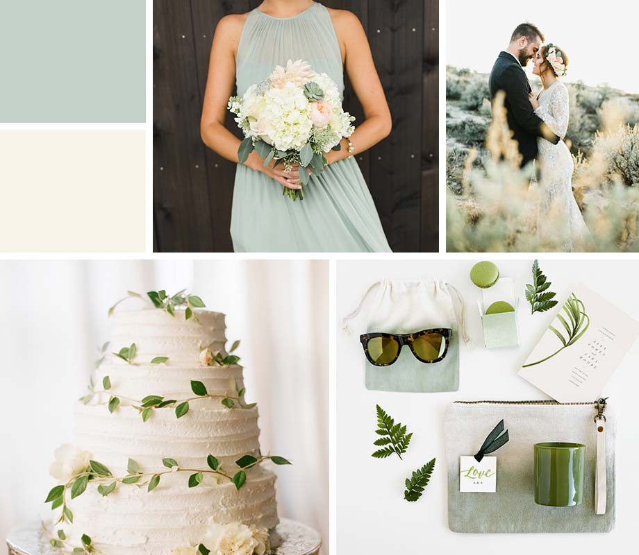 Ivory + Sage wedding palette inspiration