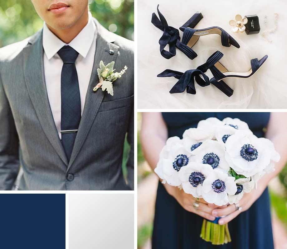 Navy + Silver wedding palette inspiration