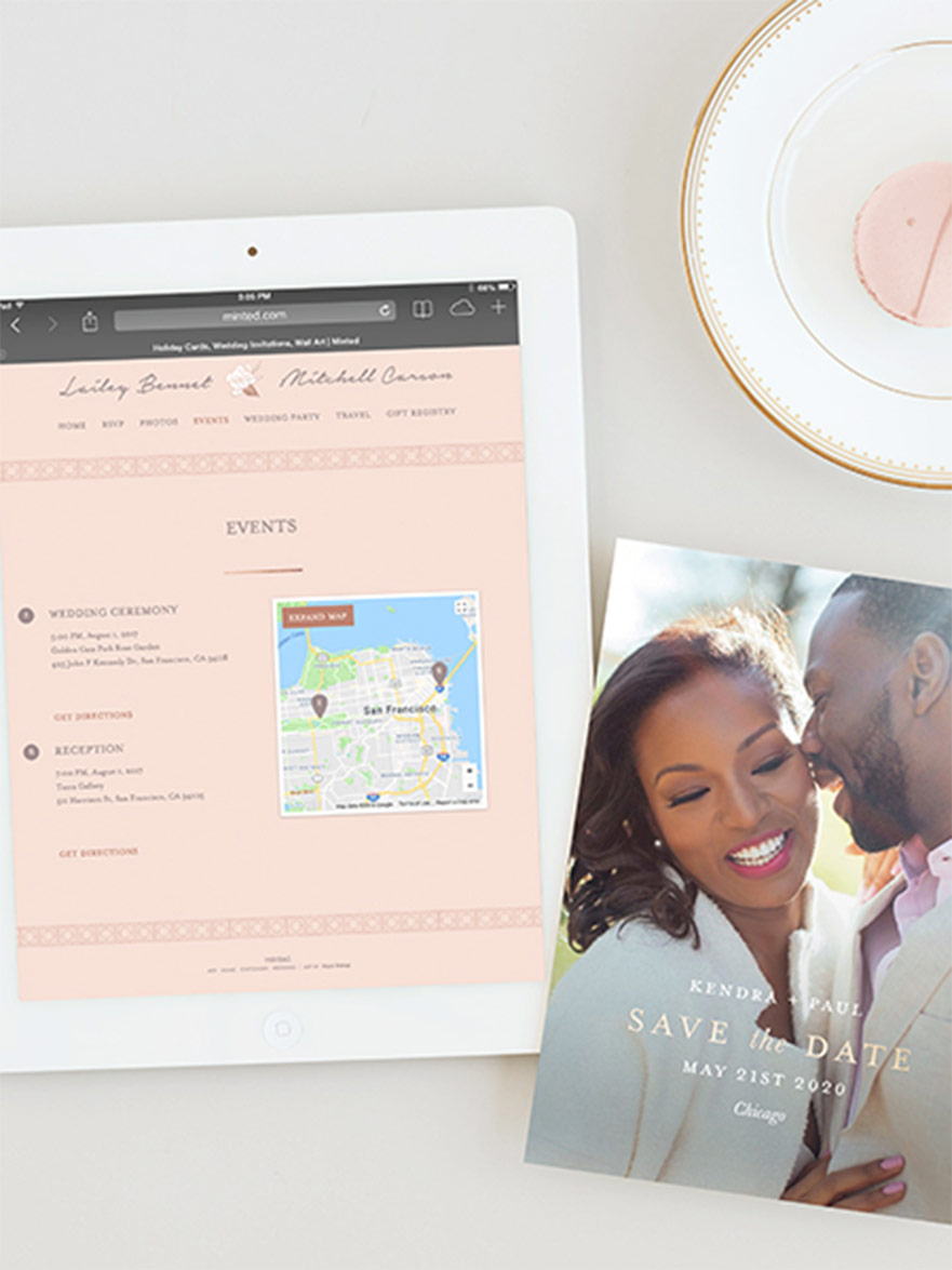 how to make a wedding website minted