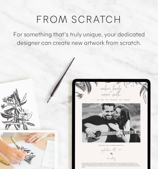 From Scratch - For something that's truly unique your dedicated designer can create new artwork from scratch.