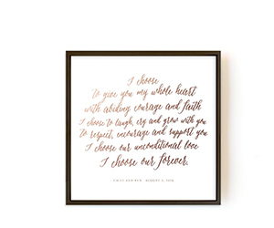 Wedding Vows Art