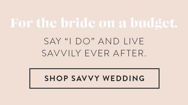Shop Savvy Wedding