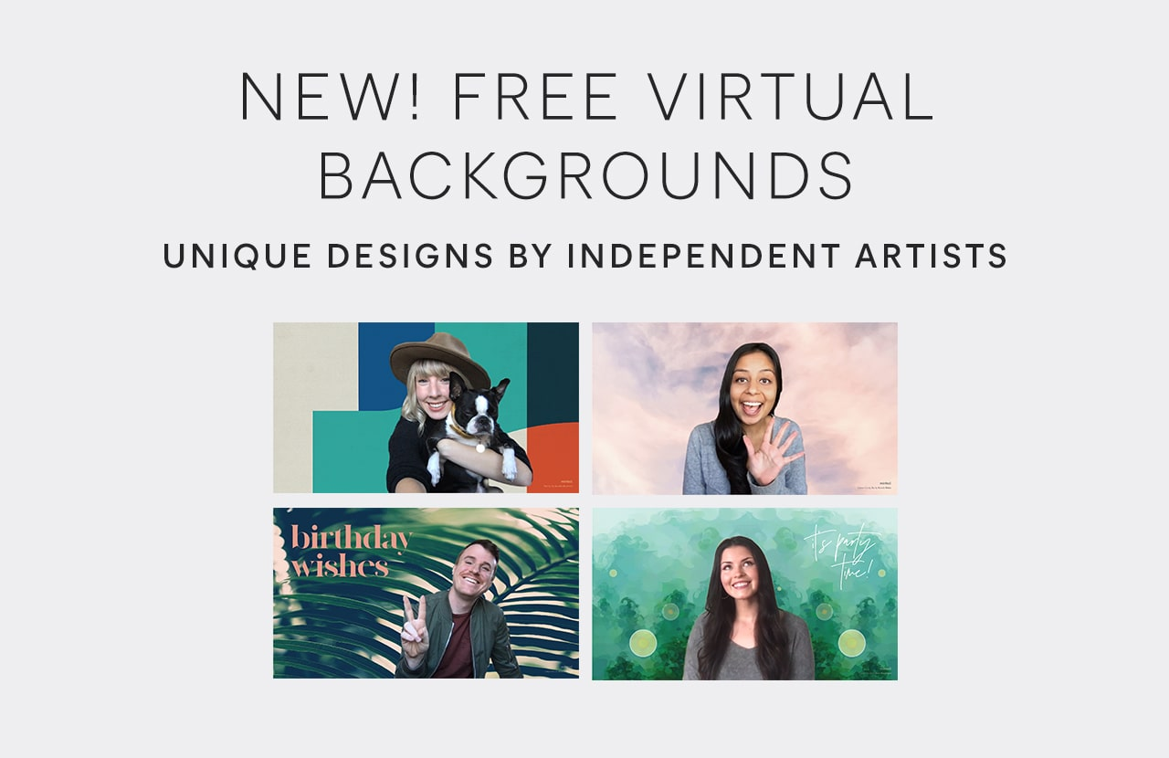 New! FREE Virtual Backgrounds