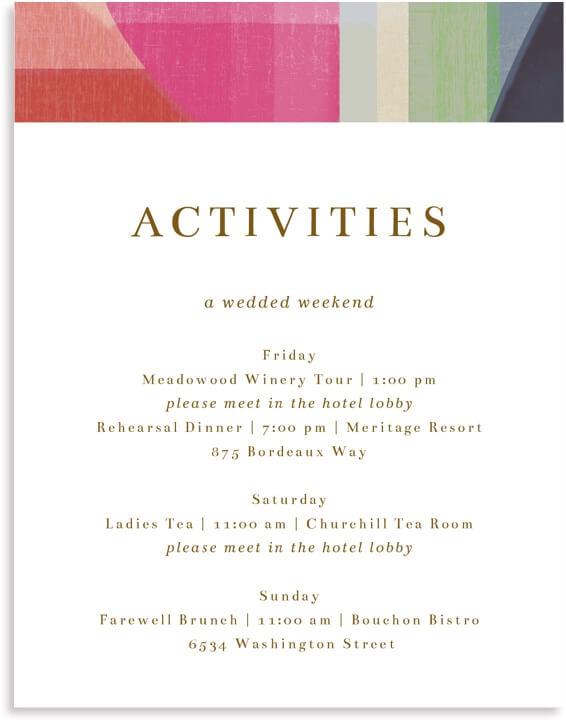 Activities Cards