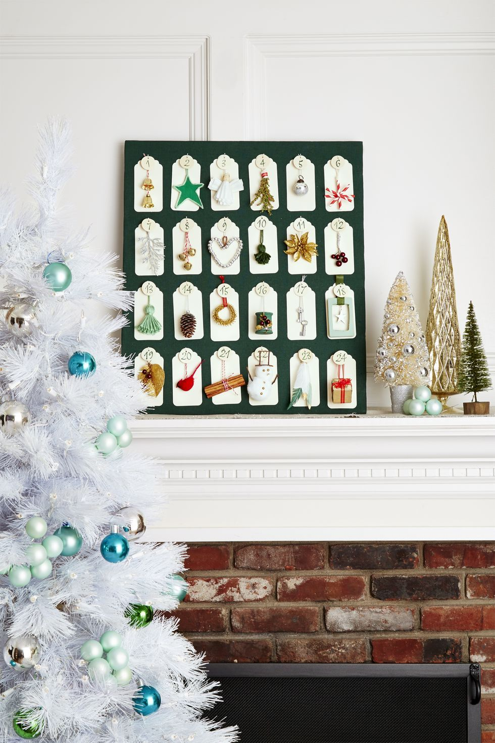 Advent Calendar Mantel