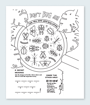 Don't Bug Me Coloring Pages Printable