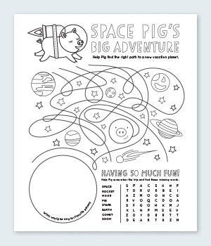 Space Pig Coloring Pages Printable