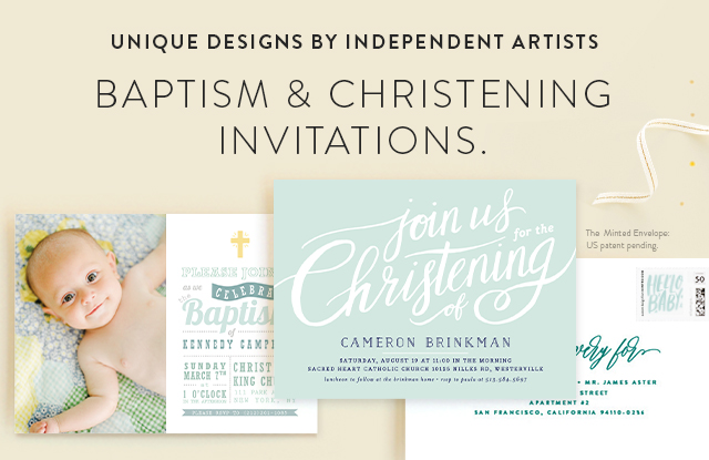 Baptism and Christening Announcements