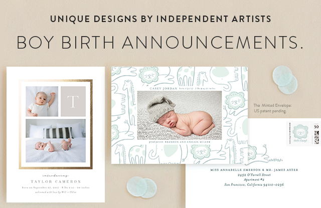 Boy Birth Announcements